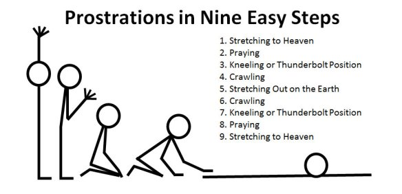 Prostrations in Nine Steps