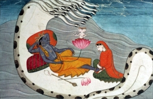 Vishnu and Lakshmi on Naga Shesha