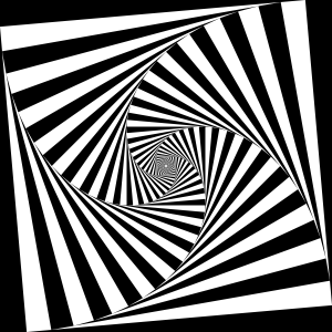 Op Art 4-Sided Spiral Tunnel