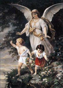 The Guardian Angel by Bernhard Plockhorst