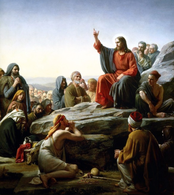 """The Sermon on the Mount"" A painting by Carl Heinrich Bloch, 1890"