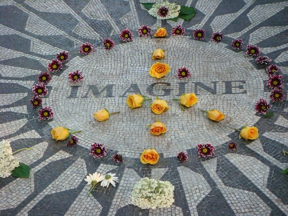 Strawberry Fields Memorial in New York City
