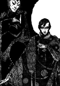 Illustration by Harry Clarke in Faust by Johann Wolfgang von Goethe