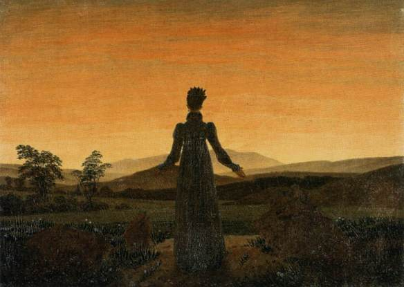 Woman Before the Rising Sun - Painted by Caspar David Friedrich in 1819.